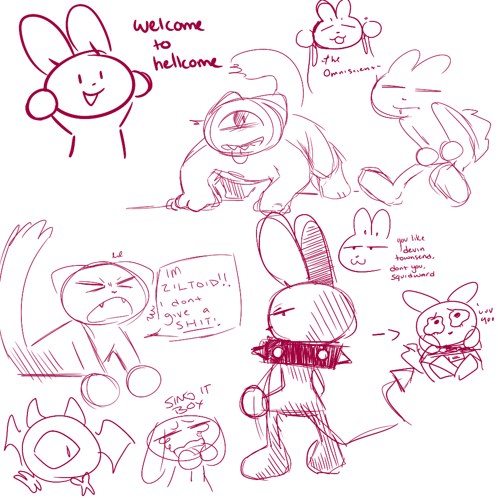 doodles by brutalbunny, bunny, cat, doodle